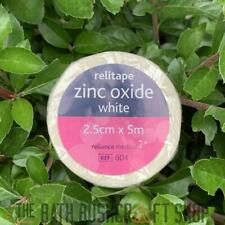 RELITAPE ZINC OXIDE ADHESIVE MEDICAL TAPE WHITE 2.5CM X 5M FIRST AID KITS