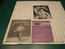 vintage original booklet - Abc of Embroidery Stiches, Jack Frost Sweaters kids,