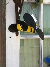 G&J's Classic Creations Bumblebee Whirligig,Yard Art,Garden Decor,Handcrafted