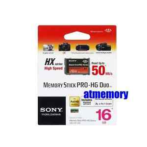 Genuine Sony 16GB 16G Memory Stick Pro Duo HG HX 50MB/s HD Video for PSP Retail