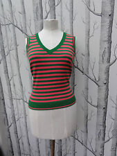 RIVER ISLAND WOMENS PINK & GREEN VEST TOP SIZE 10 EXCELLENT CONDITION