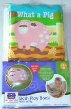"Manhattan Toy Baby Bath Play Book Gift Set  ""What a Pig"