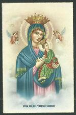 Postal antigua Virgen del Perpetuo Socorro andachtsbild santino holy card