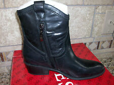 NEW GUESS GENNETTE BLACK LEATHER BOOTS WOMENS 7.5