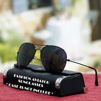 Fashion Aviator Sunglasses Pilot Style Gold UV 400 Shades Mens New Metal Frame