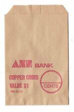 ANZ Bank $1 copper coins bag c1977 unused