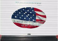 Home of the Free USA Flag Camper RV Vinyl Sticker Full Color Camper Graphics