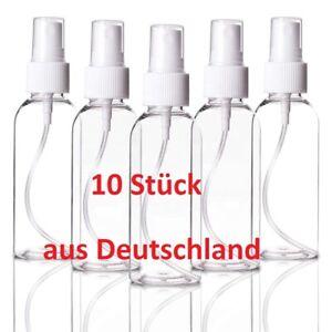 10x 100ml Sprühflasche Spray Kosmetik Zerstäuber Parfüm Reise Desinfektion