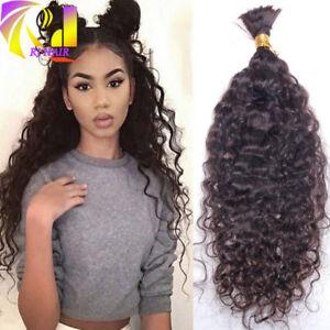 Loose Wave Brazilian Human Hair Bulk Curly Braiding Human Hair Bulk No Weft