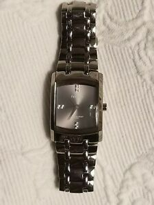 mens armitron stainless link watch