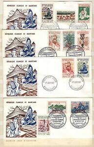 AP135530/ MAURITANIA – FDC ON COVER – Y&T # 138 / 154 USED MODERN LOT – COMPLETE