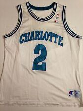 JERSEY MAILLOT NBA CHAMPION CHARLOTTE HORNETS LARRY JOHNSON