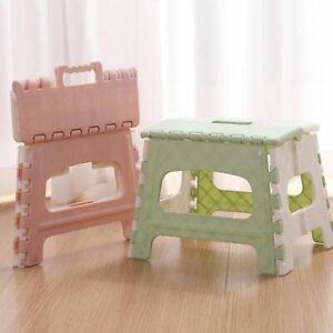 "Folding Step Stool for Kids Adults Kids Fun Colors 9"" Plastic 300 lbs Capacity"