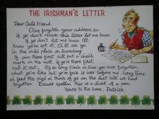 POSTCARD SOCIAL HISTORY THE IRISHMAN'S LETTER