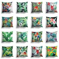 "Tropical Cushion Cover Botanical Green Cushions 17"" x 17"" 43cm x 43cm Covers"