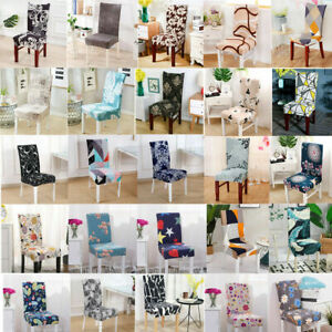 2/4/6PCS Stretch Dining Chair Covers Seat Slipcover Protector Removable Washable