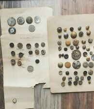 Antique Rare Picture and Metal Buttons & Smoked Pearl Large Lot
