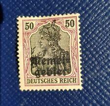 German Empire 1920 Memel Germania stamp