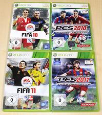 4 XBOX 360 SPIELE SAMMLUNG FIFA PES 10 11 2010 2011 FUSSBALL FOOTBALL (14 2014)