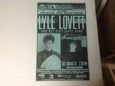 RARE! cd lp LYLE LOVETT PROMO POSTER 17x11aprx country music legned vintage