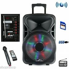 beFree BFS-4400 RB Sound 12 Inch Bluetooth Subwoofer With Illuminatiing Woofer