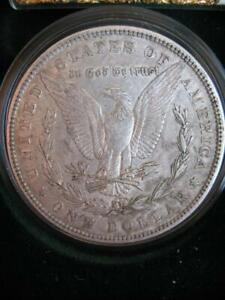 OLD 1879 U.S.MORGAN LIBERTY EAGLE SILVER DOLLAR BULLION BARTER COIN + GOLD