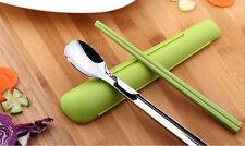 Artiart Pocket Chopsticks and Spoon Set Student Lunch Box Bento Japanese Cutlery