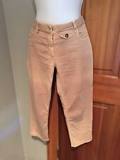 PRADA CROPPED BEIGE PANTALONE JEANS LIGHTLY FADED SIZE 42 MADE in ITALY