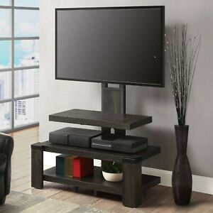 """Whalen 3-Shelf Television Stand with Floater Mount for TVs up to 55"""", Perfect fo"""
