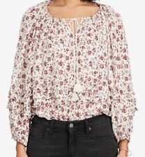 NWT Denim & Supply Ralph Lauren Floral-Print Blouse. Size XL.