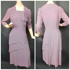 1940s Puritan Forever Young Rayon Crepe Dress Catherine Parel Design Vtg AS IS