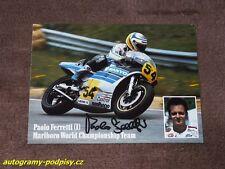 Paolo FERRETTI - original autogramm, Yamaha? Marlboro Karte/card 10x15 cm