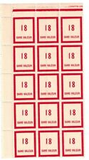 Timbre fictif N° 98 en fragment de feuille de 15 timbres Neuf **