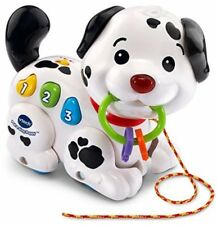 Pull-And-Sing Puppy, Toys Games Kids Learning Portable Toddler Interactive White