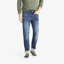 J. Crew 770 Cone Denim Men's Straight-fit Rip and Repair Stretch Jeans NEW 32x32