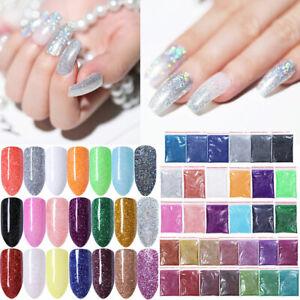 5/10/20g Nail Art Glitter Powder Dust Holographic Iridescent Metallic Body Decor