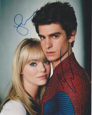 "EMMA STONE / ANDREW GARFIELD Signed 8 x 10 ""SPIDER-MAN"" Photo Autograph COA AUTO"