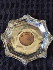 Victorian Silver Pin Dish with Zuid Afrik Republiek 1 Penny Coin Insert