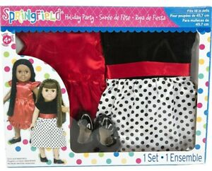 """🎊*NEW* Springfield Collection 18"""" Doll  Holiday Party Dress Set(3pc Set)🎊"""