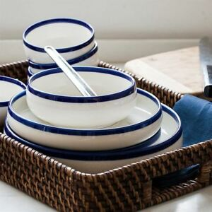 Blue Edge Ceramic Bone China Set 20 Piece Set
