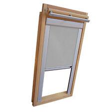 Verdunkelungsrollo mit Schienen für Velux-Dachfenster GGU/GPU/GHU/ in grau
