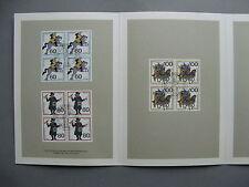 GERMANY BRD, folder CTO FDC 1989, Wohlfahrtspflege, blocks of 4 postal transport