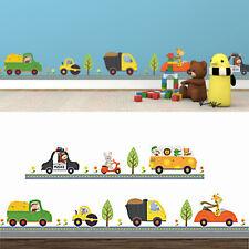 Samunshi® 18-teiliges Baby Baustellen Fahrzeuge Wandtattoo Set Kinderzimmer B... Babypuppen & Zubehör
