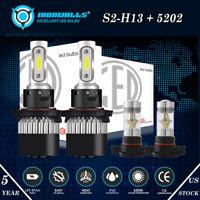 For Ford Escape 2008-2012 Combo H13 9008 LED Headlight+5202 Fog Light Bulbs 4X