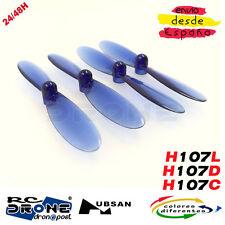 Hélices Transparentes HUBSAN X4 H107 H107L H107C H107D H108C QX90 Multicolores.