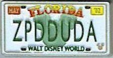 Disney Pin: WDW Hidden Mickey Collection - License Plates (ZPDDUDA)