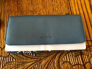 Vera Bradley RFID Audrey Wallet Blue Painted Medallions MSRP $58 Brand New w Tag