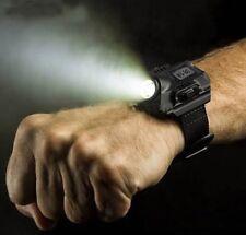 Reloj Negro con Linterna Luz LED Recargable Prueba de Agua LED Flashlight Watch