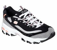 Black Dlites Skechers Shoes Women's Sport 11947 Casual Memory Foam Sport lace Up