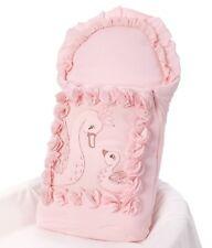 Bio Taufkissen Rosa Steckkissen Kissen für Taufe Baby Mädchen Bettwäsche